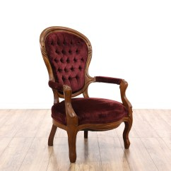 Victorian Accent Chair Lounge Chairs For Bedrooms Red Velvet Spoon Back Loveseat