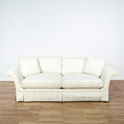 Damask Sofa Bed Best Brands Singapore Quotbaker Quot White Brocade Loveseat 2