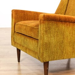 Mid Century Modern Accent Chair Orange Clear Chiavari Chairs Burnt Upholstered Club Loveseat