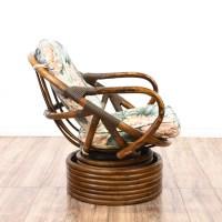 Swivel Bamboo Rocking Chair | Loveseat Vintage Furniture ...