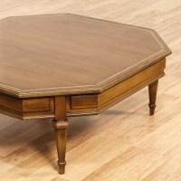 Wood Octagon Carved Coffee Table | Loveseat Vintage ...
