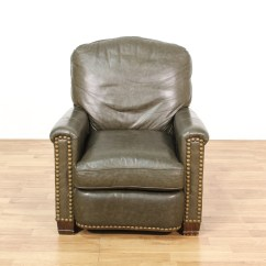 Brown Leather Recliner Chair 30 Minute Workout For Seniors Vinyl Studded Loveseat