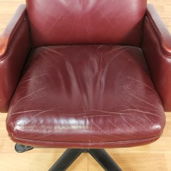 Maroon Office Chairs Jean Prouve Chair Red Vinyl Executive Loveseat Vintage