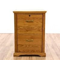 Short Oak 2 Drawer Filing Cabinet   Loveseat Vintage ...