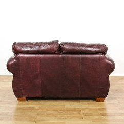 Brown Leather Sofa Accent Chair Long Curved With Marlowe Lane Living