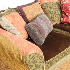 Bohemian Sofa Bed Wesley Hall Signature Slipcovered Multicolored Loveseat Vintage