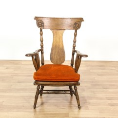 Rustic Accent Chairs Huge Camping Chair Carved Oak High Back Loveseat