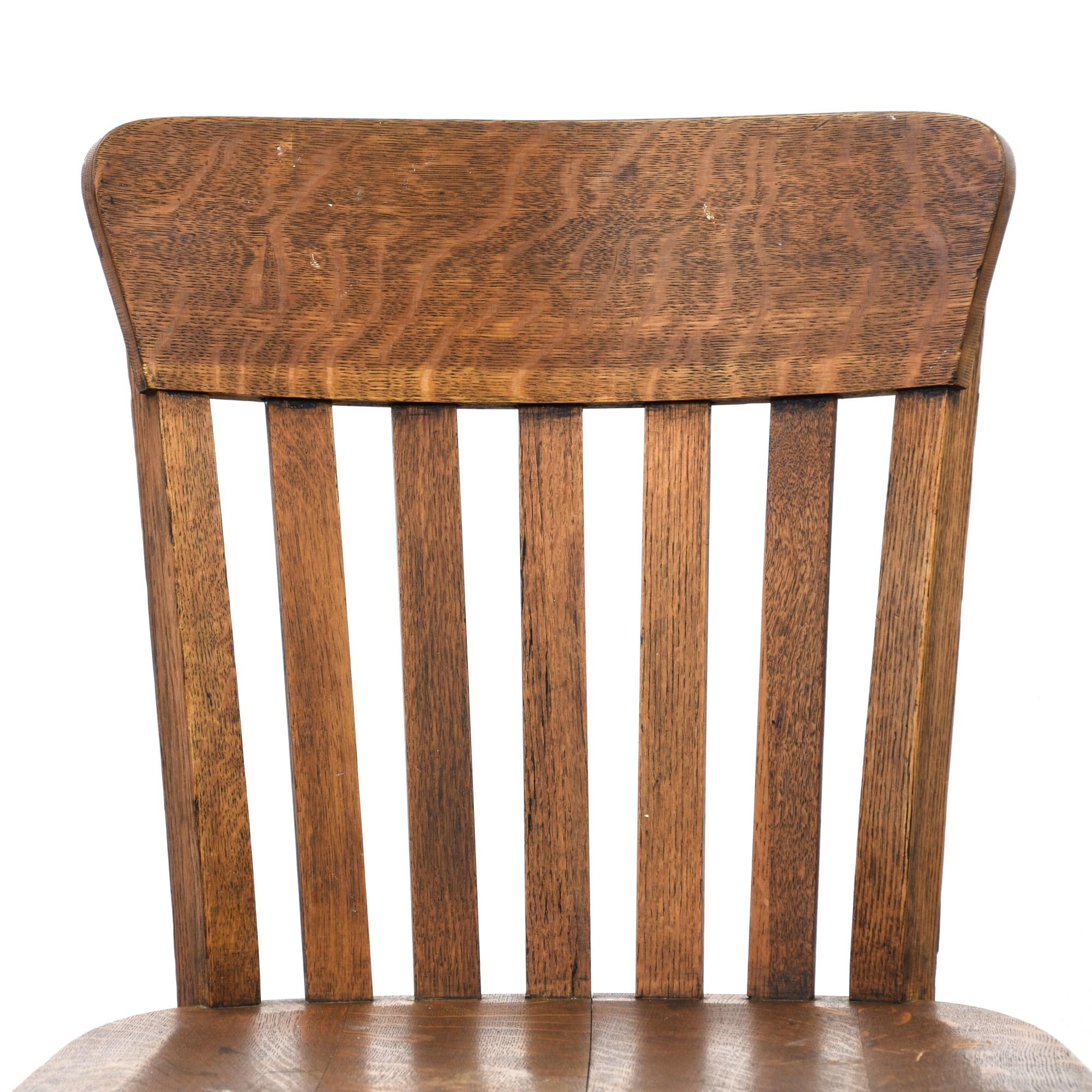 Rustic Tiger Oak Desk Chair  Loveseat Vintage Furniture
