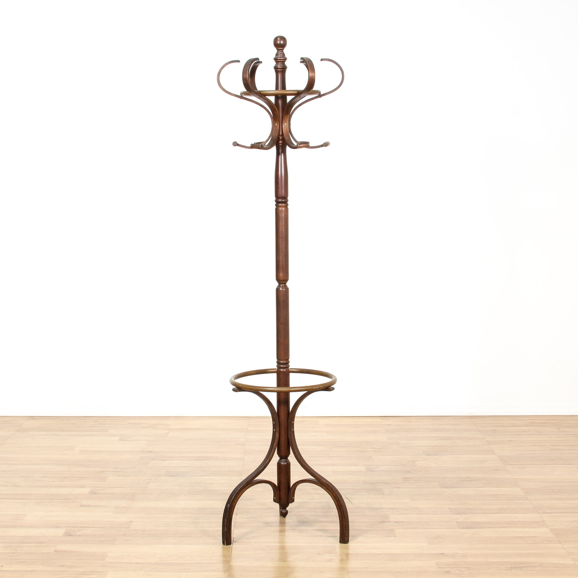 Cherry Spindle Coat Rack Hall Tree