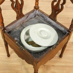 Antique Commode Chair Best Chairs For Reading Carved Roundabout Corner Loveseat