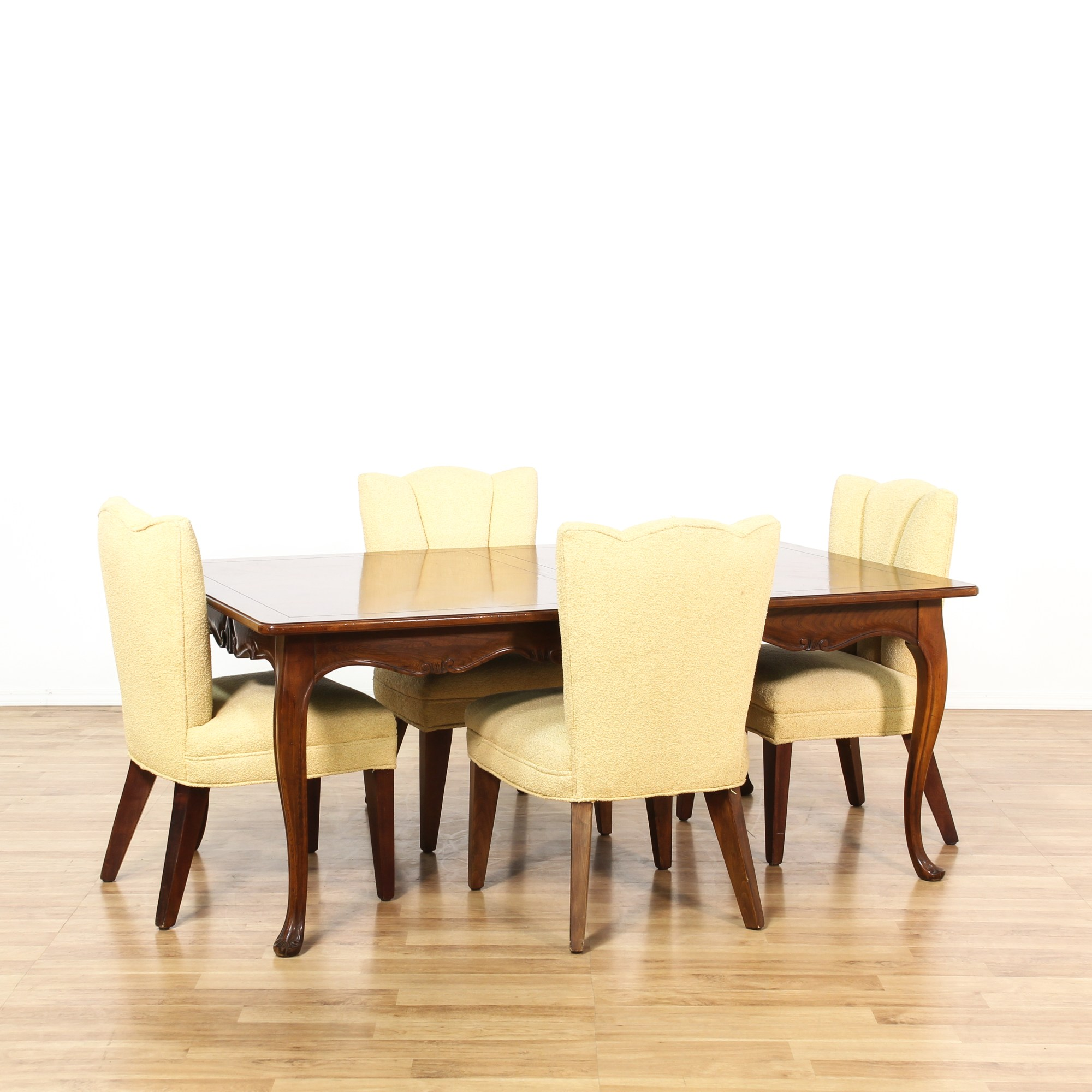 Yellow Dining Chair Cherry Dining Set W 4 Yellow Dining Chairs Loveseat