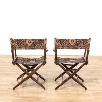 Pair Of Bohemian Upholstered Director Chairs | Loveseat ...