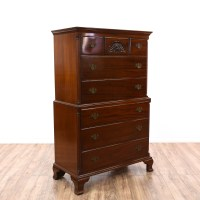Federal Style Cherry Highboy Dresser