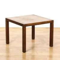 Mid Century Modern Square Walnut End Table | Loveseat ...
