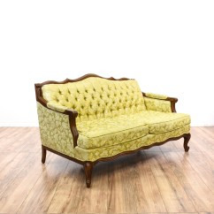 Green Floral Sofa Barbie Glam Pink Couch Yellow Tufted Loveseat