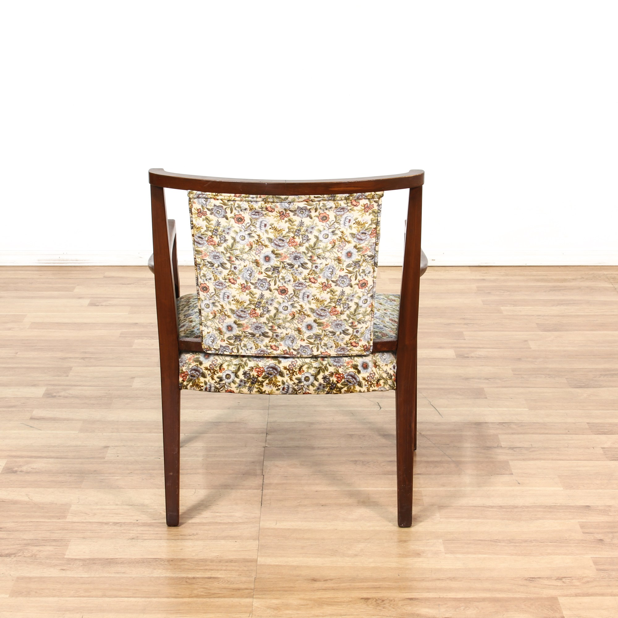 Mid Century Upholstered Chair Mid Century Floral Upholstered Chair Loveseat Vintage