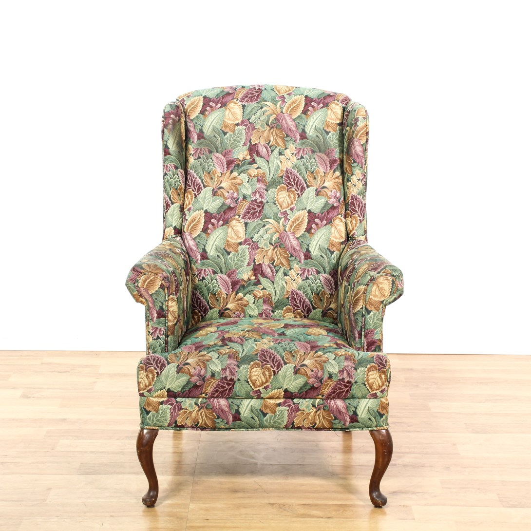 Floral Wingback Chair Floral Wingback Arm Chair 2 Loveseat Vintage Furniture