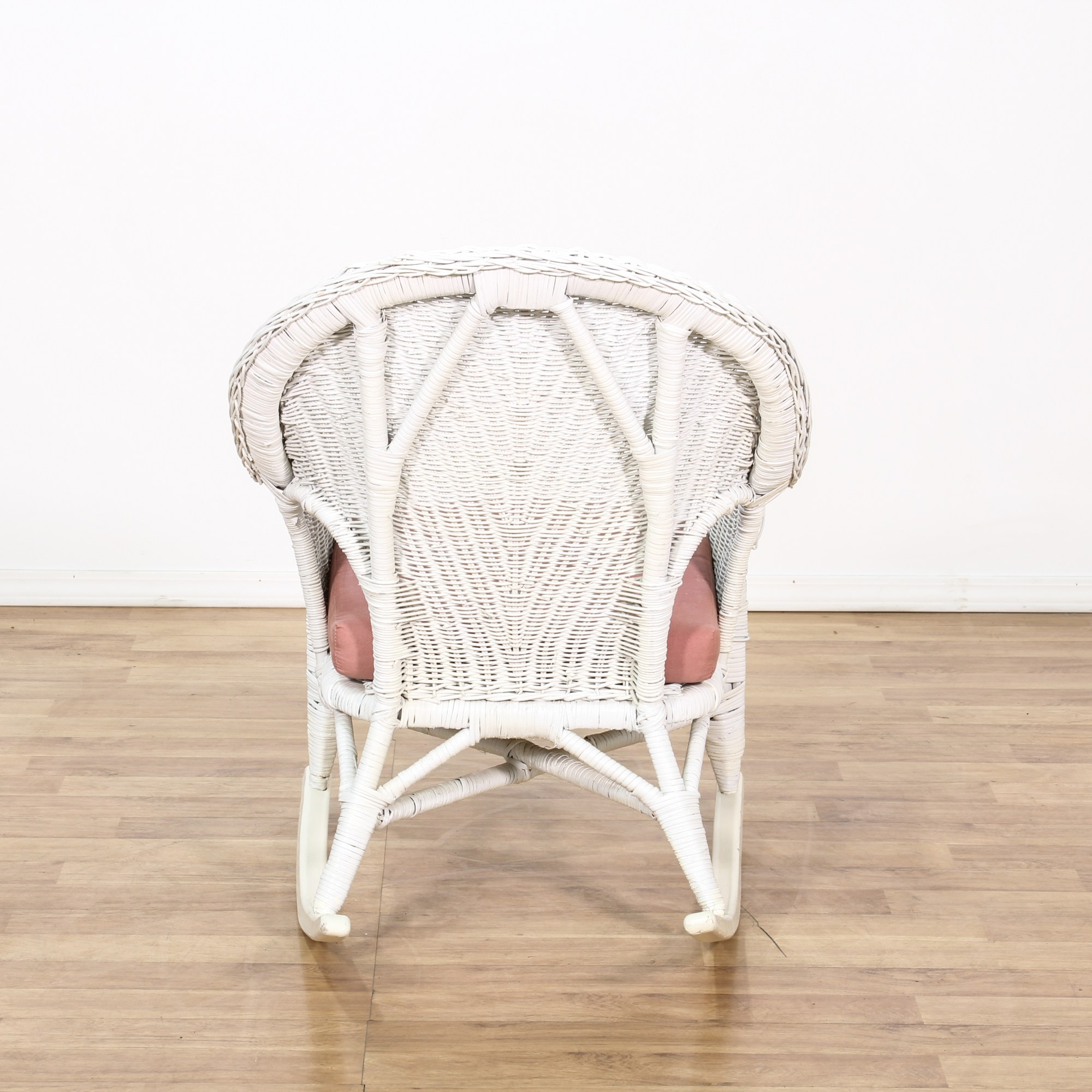 White Wicker Rocking Chair Cottage Chic White Wicker Rocking Chair Loveseat Vintage