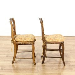 Rustic Accent Chairs Navy Living Room Chair Pair Of Carved Cottage Chic