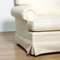 Damask Brocade White Sofa 2 | Loveseat Vintage Furniture ...