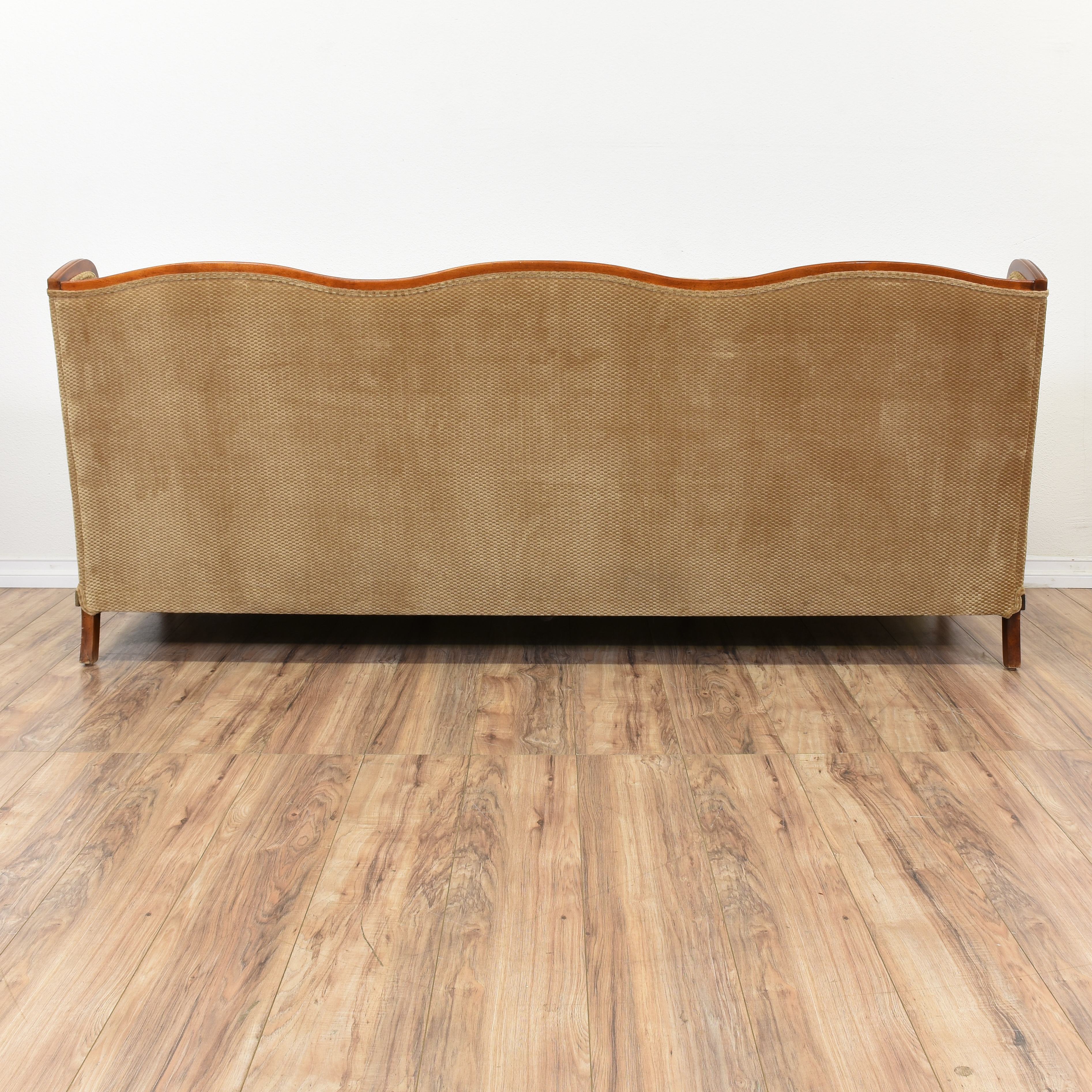 french country sofa fabric jonathan adler tan provincial wingback loveseat vintage