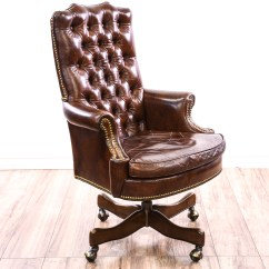 Brown Leather Studded Sofa Small Corner Table Tufted Executive Chair Loveseat