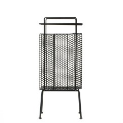 Mid Century Modern Wire Chair Beach Towels With Pockets Black Metal Magazine Rack