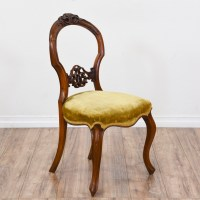 Set of 4 Carved Balloon Back Chairs