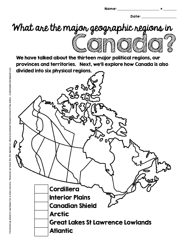 Geographic Regions of Canada NEWER version by Mikao