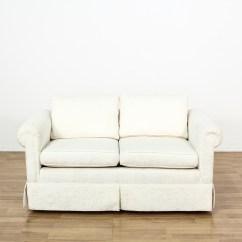 Damask Sofa Bed Kivik No Arms White Loveseat Couch Vintage Furniture