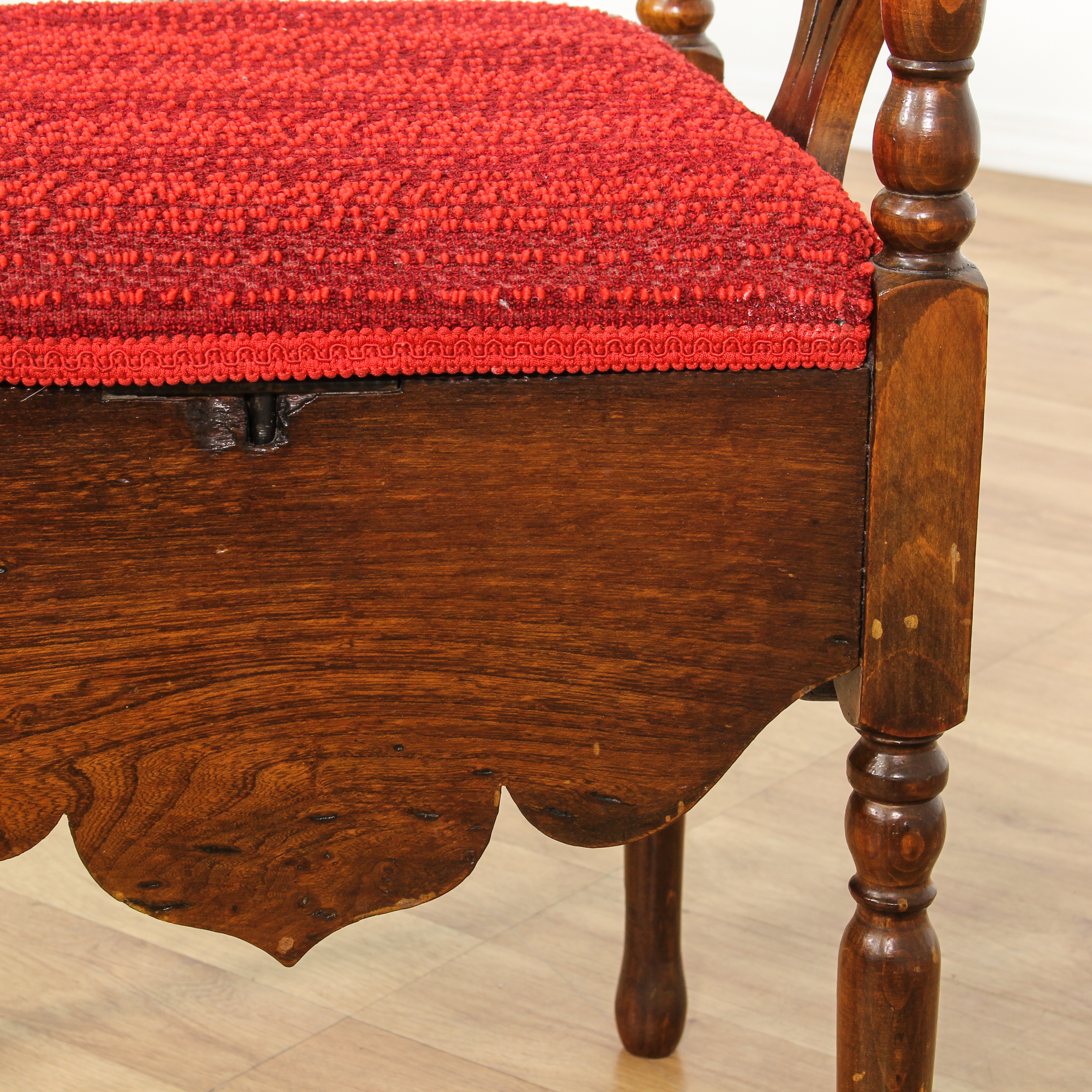 antique commode chair material to upholster dining chairs carved roundabout corner loveseat