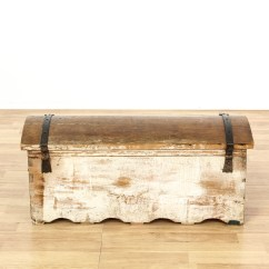 Vintage Camel Back Sofa Sprung Mattress Bed Antique Carved Trunk Loveseat