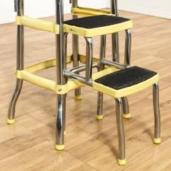 Retro Chair Step Stool Wine Barrel Adirondack Chairs Quotcosco Quot Yellow Loveseat Vintage