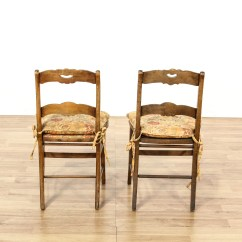 Rustic Accent Chairs Sun Lounge Pair Of Carved Cottage Chic
