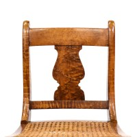 Antique Duncan Phyfe Flame Mahogany Chair | Loveseat ...
