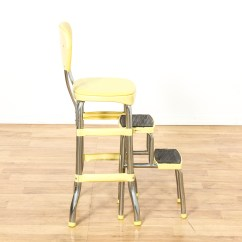 Old Fashioned Kitchen Chair Step Stool Distressed Black Cabinets Quotcosco Quot Retro Yellow Loveseat Vintage