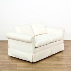 Damask Sofa Bed Antique Wooden Set Designs White Loveseat Couch Vintage Furniture