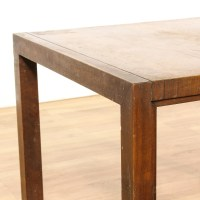 Mid Century Modern Square Walnut End Table