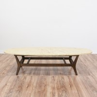 Mid Century Modern Marble Top Coffee Table | Loveseat ...