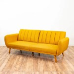 Dorel Home Yellow Mid Century Modern Sleeper Sofa Loveseat Online Auctions San Diego