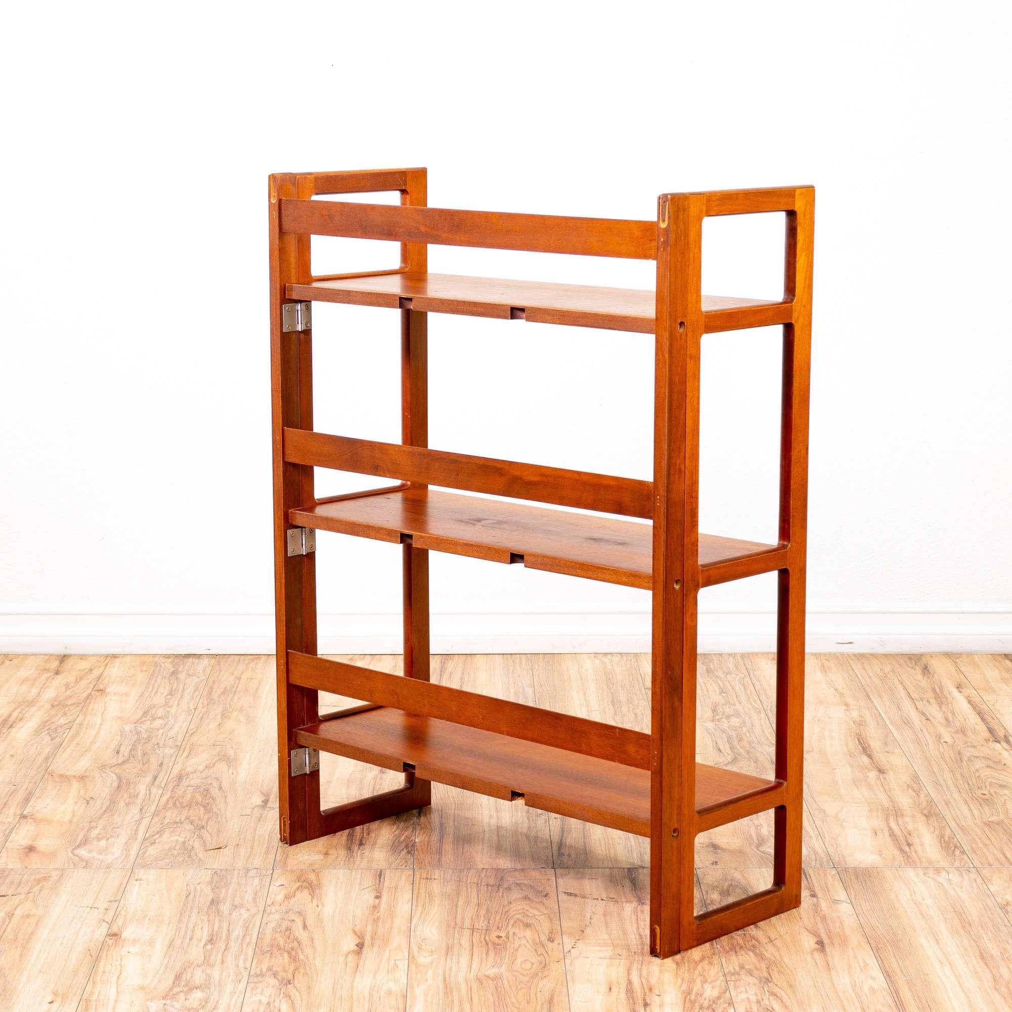 Apple Solid Wood Folding Bookcase 1 Loveseat Vintage