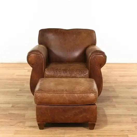 restoration hardware leather armchair w ottoman loveseat com los angeles