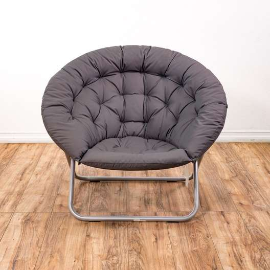 folding papasan chair pottery barn wingback gray metal 2 loveseat vintage furniture san auction information