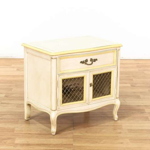 vine henredon sofa city fort smith ar commercial vintage dressers used in san diego los angeles orange cream yellow nightstand cabinet