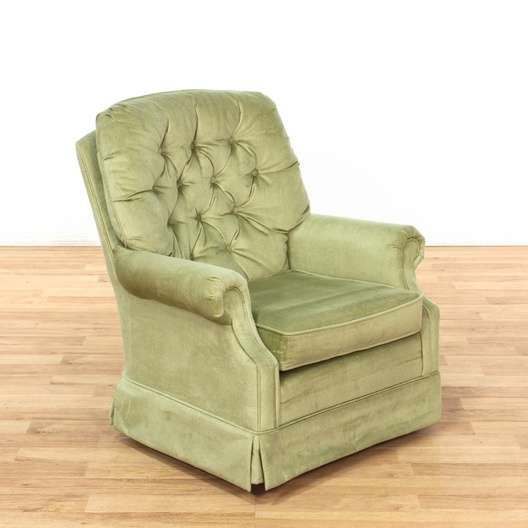 green velvet swivel chair covers for plastic outdoor chairs la z boy tufted rocker armchair 1 loveseat next
