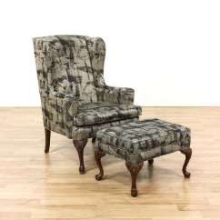 Ethan Allen Wingback Chairs Rent Cheap Chair Covers Ottoman Loveseat Vintage Furniture Next
