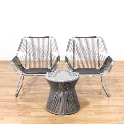 patio string chair gaming reviews uk pair of modern chairs w side table loveseat vintage next