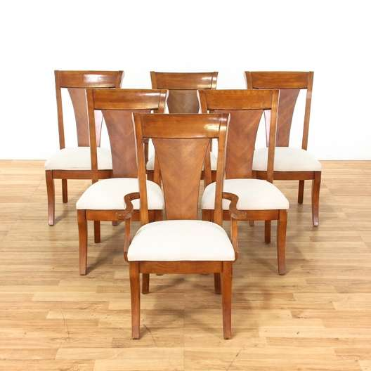 cream upholstered dining chairs eames 6 traditional loveseat vintage next