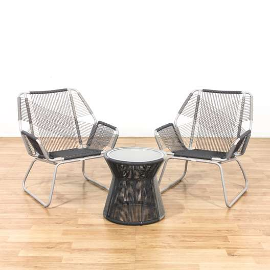 patio string chair verner panton s replica pair of modern chairs w side table loveseat vintage next