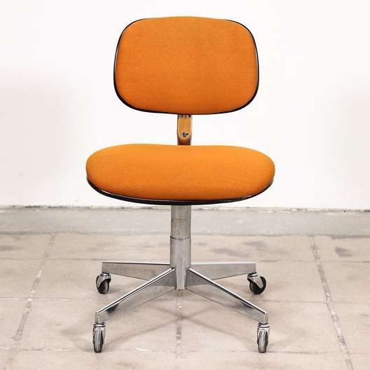 steelcase vintage chair brookstone massage reviews rolling retro orange desk loveseat next
